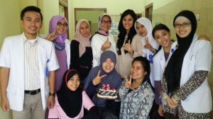 Together with my beloved Internship team and our great tutors..thank you for the unsurprising surprise :p